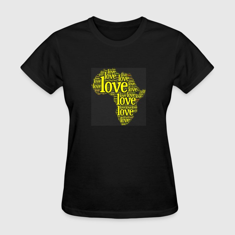 Africa Yellow Love - Women's T-Shirt