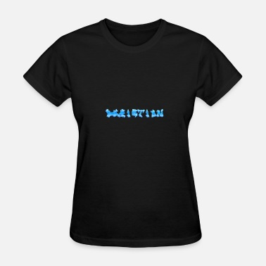 Depicted Depiction Graffiti [BLUE] - Women's T-Shirt