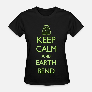 Avatar Keep Calm and Earth Bend VECTOR - Women's T-Shirt