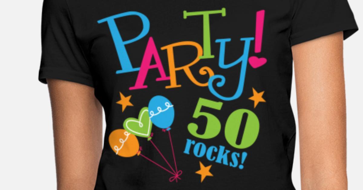 Womens T Shirt50th Birthday Party 50 Years