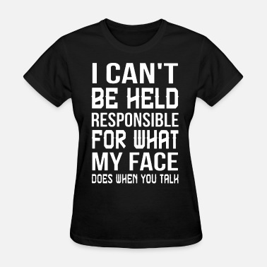 Yao Ming Meme I cant be held responsible for what my face does w - Women's T-Shirt