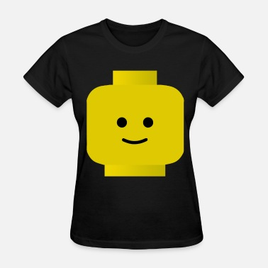 Funny Lego LEGO Man Smiley Head CLASSIC Funny Party Nerd Geek - Women's T-Shirt