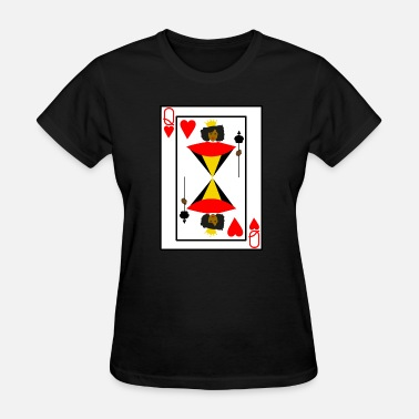 Queen Of Hearts Black Queen of Hearts - Women's T-Shirt