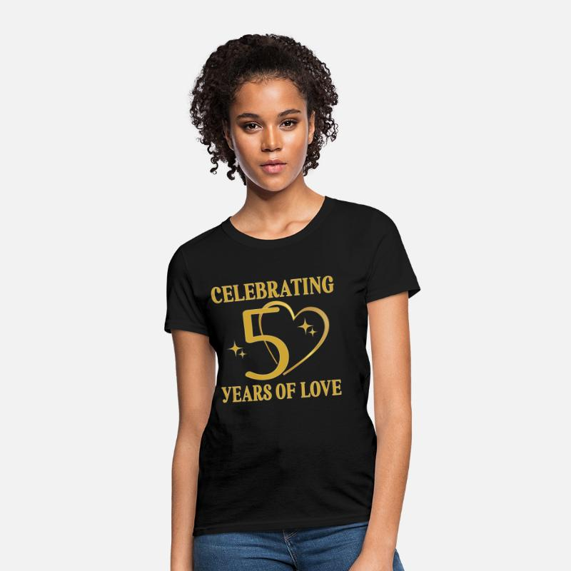 Anniversary T-Shirts - 50th Wedding Anniversary Golden - Women's T-Shirt black