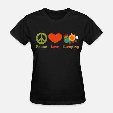 Peace Love Happiness Peace Love Camping 2 - Women's T-Shirt