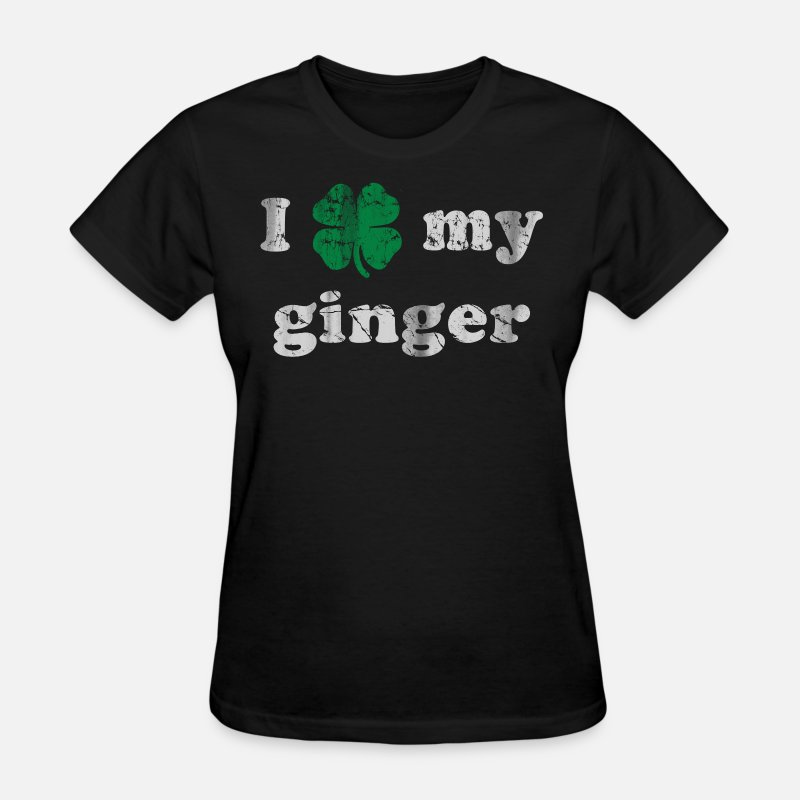 Cute T-Shirts - I Shamrock my Ginger - Women's T-Shirt black