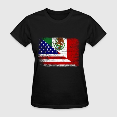 Vintage Mexican American Flag - Women's T-Shirt