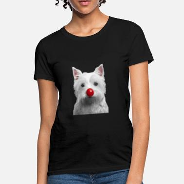 Nose Red Nose Day Westie - Women's T-Shirt