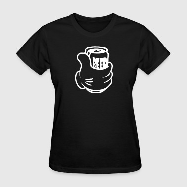 Beer in Hand Drunk Alcohol Funny - Women's T-Shirt