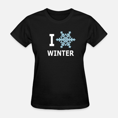 Snowflakes I Love Winter Snowflake - Women's T-Shirt