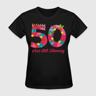 Blooming 50th Birthday - Women's T-Shirt