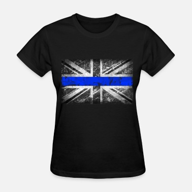 Tattered tattered distressed thin blue line flag vintage GB - Women's T-Shirt