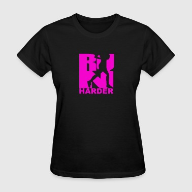 RUN Harder gym workout - Women's T-Shirt