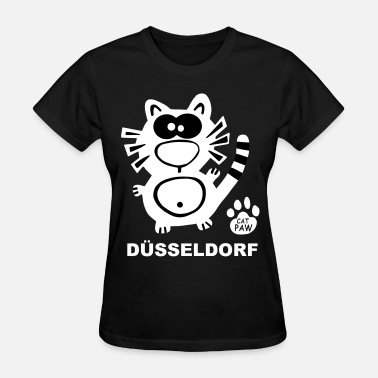 Kö Düsseldorf City Town Cat Catpaw Design Cats - Women's T-Shirt