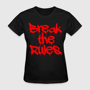 GIRLS Break the Rules Hoodie Red - Women's T-Shirt