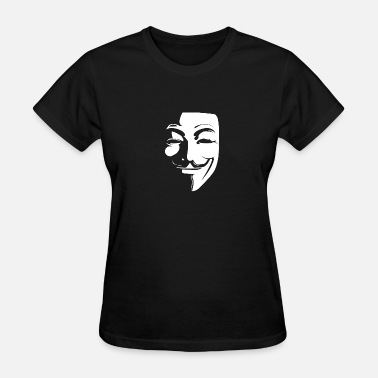 Anonymous Guy Fawkes Mask Anonymous Guy Fawkes Mask - Women's T-Shirt