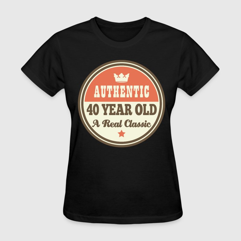 40th Birthday Funny Vintage Crown - Women's T-Shirt