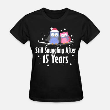15th Wedding Anniversary 15th Anniversary Owl Couple - Women's T-Shirt