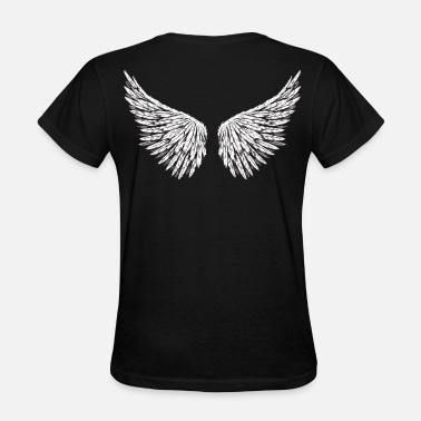 Tattoo Designs Angel Wings - Women's T-Shirt