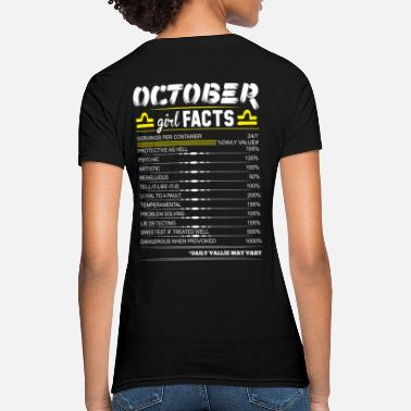Legends Are Born In October October Girl Facts Libra - Women's T-Shirt