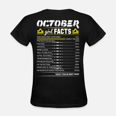 Legends Are Born In October Birthday October Girl Facts Libra - Women's T-Shirt