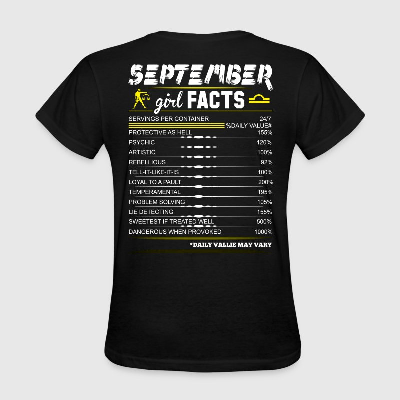 September Girl Facts Libra - Women's T-Shirt