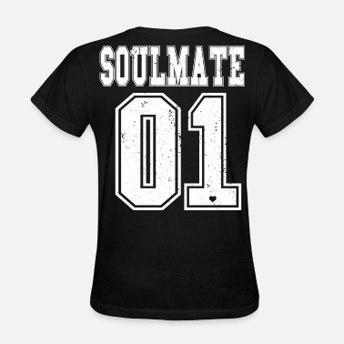 Mate Bros Soulmate BFF Soul Couple Mate Bro Best Friends 01 - Women's T-Shirt