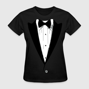 Custom Color Tuxedo Tshirt - Women's T-Shirt