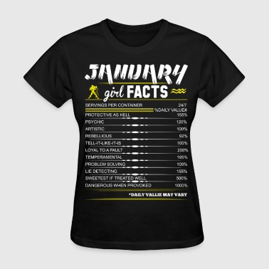 January Girl Facts Aquarius - Women's T-Shirt