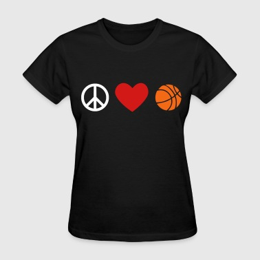 peace, love, basketball - Women's T-Shirt