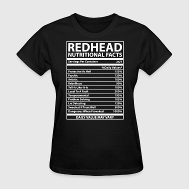 Redhead Nutritional Facts - Women's T-Shirt
