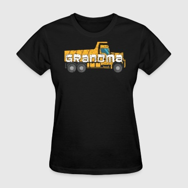 Best Grandma Yellow Construction Trucks - Women's T-Shirt