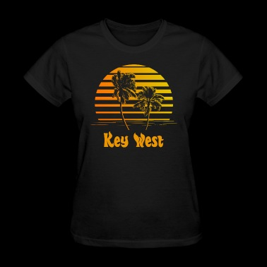 Key West Florida Sunset Palm Trees - Women's T-Shirt