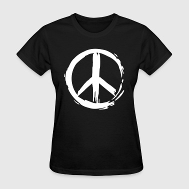 Painted Peace Symbol - Women's T-Shirt