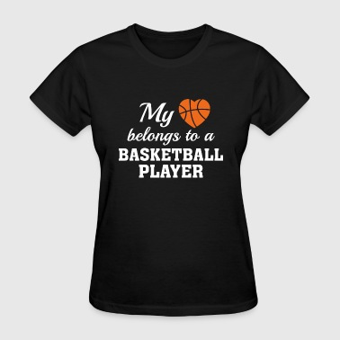 Heart Belongs Basketball - Women's T-Shirt
