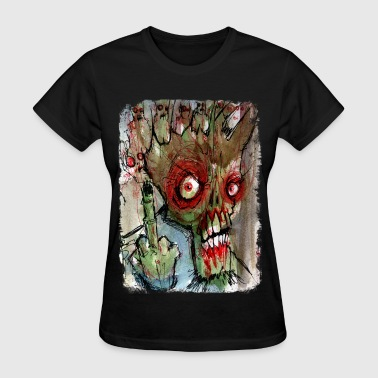 zombie gives the finger - Women's T-Shirt