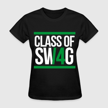 CLASS OF SWAG (2014) Green with bands - Women's T-Shirt