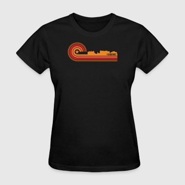 Retro Style Fairbanks Alaska Skyline - Women's T-Shirt