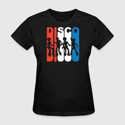 Red White And Blue Disco Dancers - Women's T-Shirt