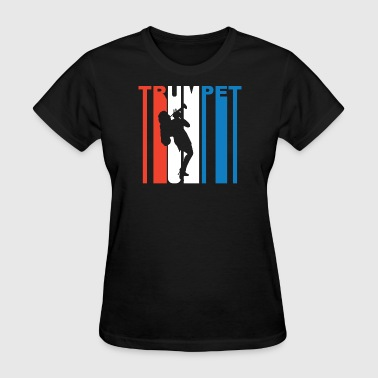 Red White And Blue Trumpet - Women's T-Shirt