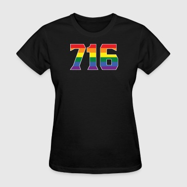 Gay Pride 716 Buffalo Area Code - Women's T-Shirt