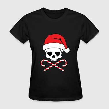Girl Skull Christmas - Women's T-Shirt