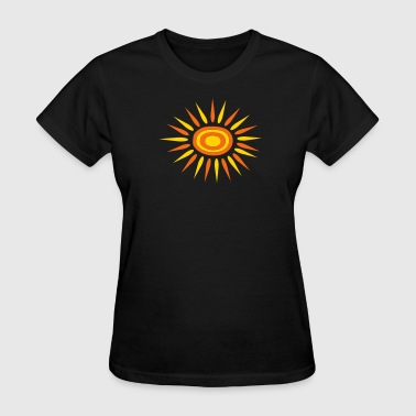Big Sun With Alternate-Color Rays and Rings - Women's T-Shirt
