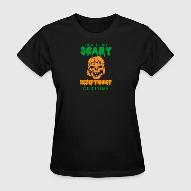 Halloween This My Scary Receptionist Costume - Women's T-Shirt