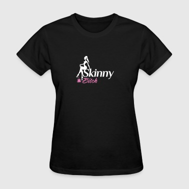 Skinny Bitch White Pink - Women's T-Shirt