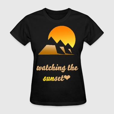 Pyramids and the sun - Women's T-Shirt