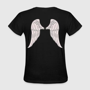 Pink Wings Back Design - Women's T-Shirt