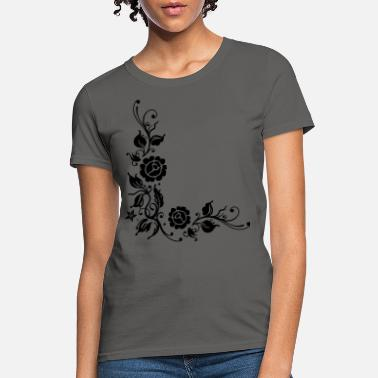 Filigree Roses with filigree ornament and leaves - Women's T-Shirt