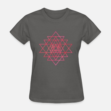 Mantra Meditation Yoga Shri Yantra | Yoga Mantra Meditation Gift - Women's T-Shirt