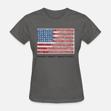 Human Values American Values Flag - Women's T-Shirt